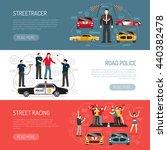 street racing flat horizontal... | Shutterstock .eps vector #440382478