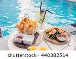 mix snack break with margarita... | Shutterstock . vector #440382514