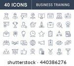 set vector line icons in flat... | Shutterstock .eps vector #440386276