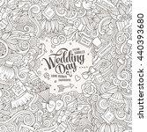 cartoon cute doodles hand drawn ... | Shutterstock .eps vector #440393680
