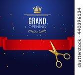 grand opening design template... | Shutterstock .eps vector #440396134