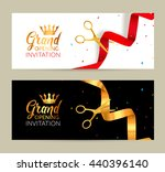 grand opening invitation banner.... | Shutterstock .eps vector #440396140