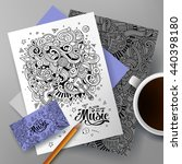 cartoon cute colorful vector... | Shutterstock .eps vector #440398180