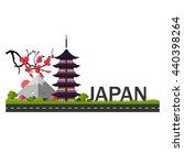 Japan Fuji. Vector Illustratio...