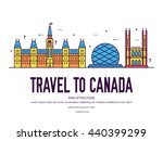 country canada travel vacation... | Shutterstock .eps vector #440399299