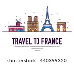country france travel vacation... | Shutterstock .eps vector #440399320