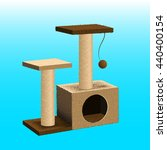 Cat Tree With Cat House And...