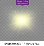 glow light effect. star burst... | Shutterstock .eps vector #440401768