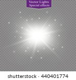 glow light effect. star burst... | Shutterstock .eps vector #440401774