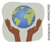 hands of african american... | Shutterstock .eps vector #440401900