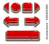 cartoon red stone buttons for...