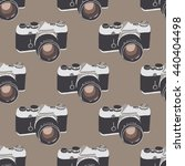 seamless pattern with retro...   Shutterstock .eps vector #440404498