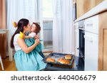 mom and baby daughter in... | Shutterstock . vector #440406679