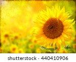 Grunge Summer Background With...