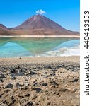 laguna verde is a salt lake at...   Shutterstock . vector #440413153