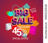 big sale discount 45  off... | Shutterstock .eps vector #440422018