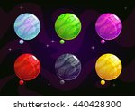 cool bright colorful fantasy... | Shutterstock .eps vector #440428300