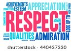 respect word cloud on a white... | Shutterstock .eps vector #440437330