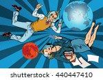 businessman and businesswoman...   Shutterstock .eps vector #440447410