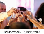 people cheers with wineglasses | Shutterstock . vector #440447980