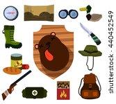 hunter set. design elements for ... | Shutterstock . vector #440452549
