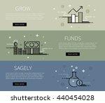 linear financial web banners... | Shutterstock . vector #440454028