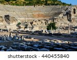Ancient Ruins In Ephesus Turkey.