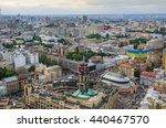 Small photo of KIEV, UKRAINE - NOVEMBER 17: Architecture of center Kiev city at day on 17 November 2015. Kiev is the capital of Ukraine. Aerial view from Kiev