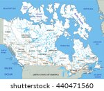 high detailed canada road map... | Shutterstock .eps vector #440471560