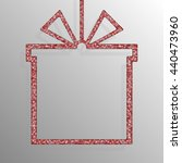 frame made of red sequins in...