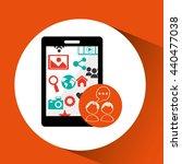 social media design  | Shutterstock .eps vector #440477038