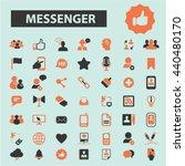 messenger icons | Shutterstock .eps vector #440480170