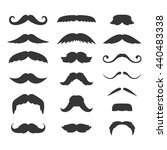 Hipster Mustache Big Set On...