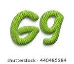 Fabric Alphabet Letter G In 3d...
