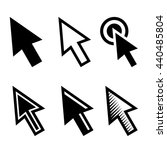 arrow cursors symbol icons set... | Shutterstock . vector #440485804