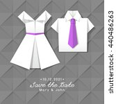 vector origami dress and shirt  ... | Shutterstock .eps vector #440486263