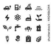 ecology icon set  vector eps10. | Shutterstock .eps vector #440486344