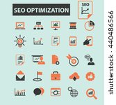 seo optimization icons | Shutterstock .eps vector #440486566