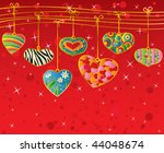 valentine's background with... | Shutterstock .eps vector #44048674