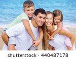 beach. | Shutterstock . vector #440487178