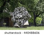 Small photo of Bonn, Germany - June 10: Beethoven Monument in the city of Bonn, Germany.