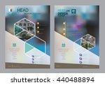 corporate brochure flyer design ... | Shutterstock .eps vector #440488894