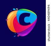 letter c logo in triangle... | Shutterstock .eps vector #440489494