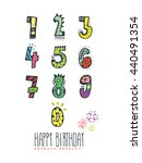 hand drawn numbers. for... | Shutterstock .eps vector #440491354