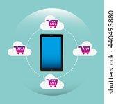 cloud computing design  | Shutterstock .eps vector #440493880
