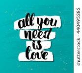 trendy lettering poster. hand...   Shutterstock .eps vector #440495383