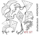 Kite Set  Outline Drawings  A...