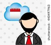 cloud computing design  | Shutterstock .eps vector #440497963