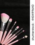 makeup brush set in the black... | Shutterstock . vector #440499640