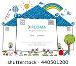 kids diploma preschool...   Shutterstock .eps vector #440501200